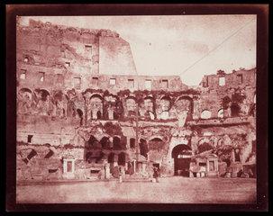 Interior of the Colosseum  Rome  c.1846.