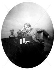 Thomas Edison  American inventor  1888.