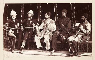 'Mr Jenkyns  Major Cavagnari CIS  Amir Yakub Khan...'  1879.
