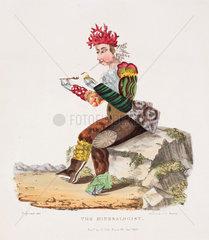 'The Minerologist'  hand-coloured aquatint  1830.