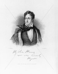 Lord Byron  English poet  c 1810.