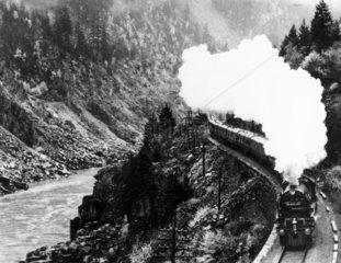 'Royal Scot' steam locomotive  Canada  November 1933.