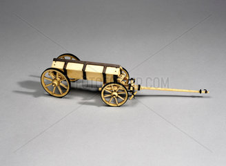 Model of a military cart.