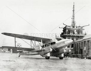 Railway Air Services de Havilland DH 86 Express aircraft  Croydon Airport  c 1937.