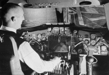 Pilot's eye view from the cockpit of the 'Concorde'  25 May 1966.