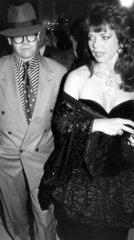 Elton John and wife Renate  1988.