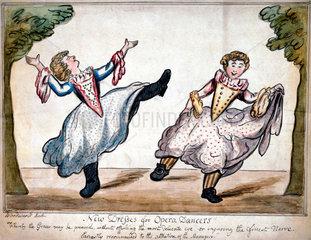 'New dresses for opera dancers!'  c 1800.