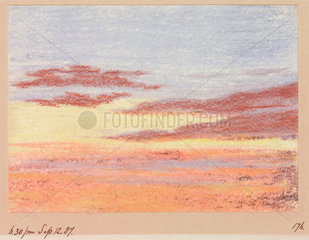 Sunset  18.30  12 September 1887.