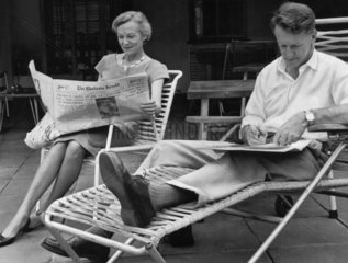 Ian Smith  Prime Minister of Rhodesia  and his wife  November 1964.