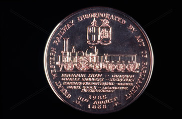 Medal celebrating the 150 years of GWR  1835-1985.