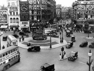 Traffic at Piccadilly Circus  London  12 Ju