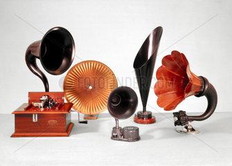 Five loudspeakers  1920s.