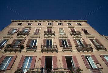 Cagliari  Italien  Fassade eines feudalen  historischen Palazzo im Stadtviertel Castello