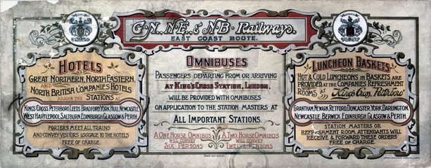 'Hotels  Omnibuses and Luncheon Baskets'  carriage advertisement  1907.