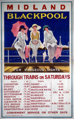 'Blackpool for Gorgeous Sights'  MR poster  1920.