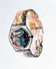 Swatch 'Access' quartz wristwatch with analogue display  1997.