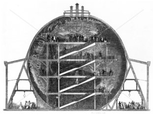 Wyld's Globe  Leicester Square  London  12 July 1851.
