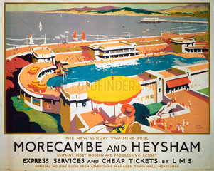 'Morecambe and Heysham'  LMS poster  1923-1947.