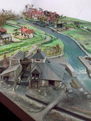 Model of village industries  c 1750.