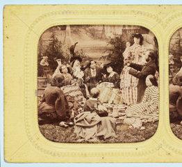 A picnic  c 1860 .