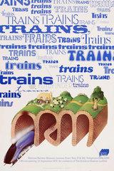 'Trains'  NRM poster  1975.