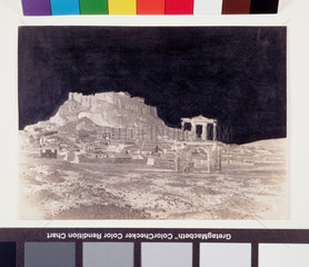 The Acropolis  Athens  from the south east  1851.