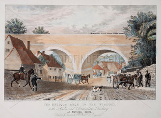 'The Oblique Arch...'  the London & Birmingham Railway'  19th century.