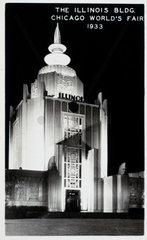 'The Illinois Building  Chicago World's Fair'  1933.