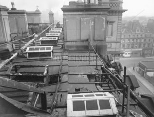 Air raid damage  roof of the Great Western Royal Hotel  London  1944.