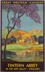 'Tintern Abbey'  GWR poster  1930.