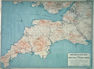 Map of London  Midland and Scottish Railway  c 1930.