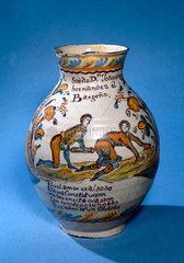 Spanish jug  possibly 17th century.
