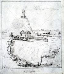 'Frontispiece'  a derailment  1835.