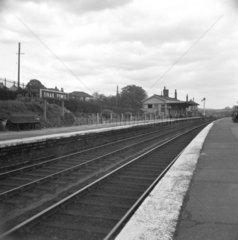 Dinas Powis station  looking north  Vale of Glamorgan  23 April 1950.