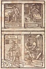 Alchemical symbolism  1657.