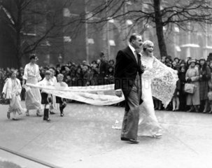 The marriage of Mr Philip Broadmead and Miss Anne Keppel  14 April  1931.