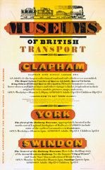 'Museums of British Transport'  BR poster  1971.