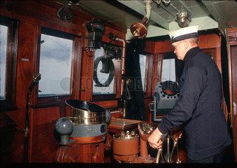 In the ship's wheelhouse  July 1962.