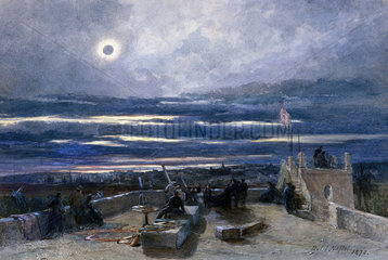 Total eclipse of the sun  Andalucia  Spain  1870.