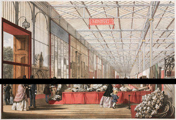 Mining stand at the Great Exhibition  Hyde Park  London  1851.