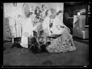 Applying film makeup  1934.