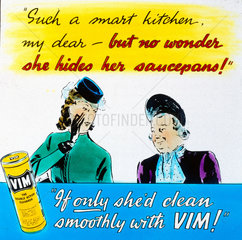 'Clean smoothly with VIM!'  advertisement  c 1950s.