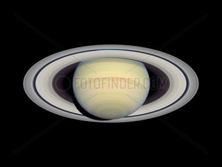 Saturn and its rings  22 March 2004.