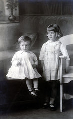 Two young children  early 20th century.