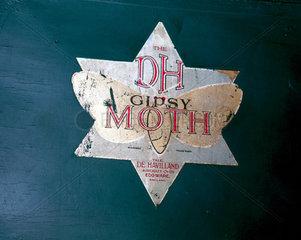 Insignia on Amy Johnson's de Havilland 60 Gipsy Moth aeroplane  1928.