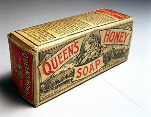 Packet of 'Queen's Honey' soap  c 1890-1914.
