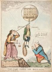 'The East India Air Balloon'  1783.