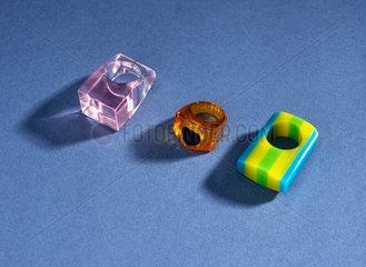 Acrylic rings  1930s-1960s.