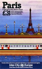 'Paris'  BR poster  c 1980s.