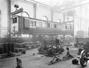 Carriage manufacture  Newton Heath works  Manchester  25 February 1927.